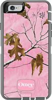 "NEW OTTERBOX DEFENDER CASE FOR IPHONE 6 6S (4.7"") & HOLSTER REALTREE XTRA PINK"