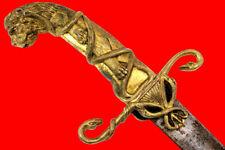 Rare French Napoleonic era Hungarian Officer's Sword w/ Fine Figural Bronze Hilt