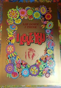 LIE DOWN I THINK I LOVE YOU 1970 VINTAGE PRO POP NOS POSTER By Cocorico -NICE!