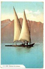CPA 74 Haute-Savoie Lac Léman Barque