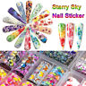 10Roll/Set Flower Butterfly Holographic Nail Sticker Foil Starry Transfer Decal