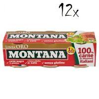 36x Montana linea oro Rindfleisch in Aspik dosen 90g 100% Italienisch Fleisch