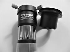 """Sky's the Limit Shorty 1.25"""" 2x Barlow Lens with T42 thread adapter"""
