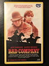 Bad Company Ex-Rental Vintage Big Box VHS Tape English with dutch subs