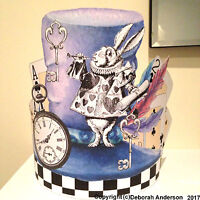 Easy Fit Mad Hatters HEAD BAND Hat Alice In Wonderland  Quirky Party Hat  AZ1