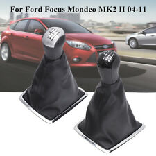 6 Speed Gear Knob Shifter Gaiter Gaitor Boot For Ford Focus Mondeo MK2 II 04-11
