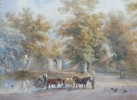 WATERCOLOUR ENGLISH COUNTRYSIDE LISTED ARTIST HENRY EARP SENIOR  FREE SHIPPING