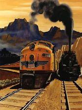 Viajes transporte tren vía férrea de vapor Motor Diesel Paisaje Usa