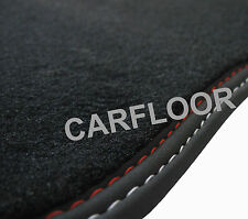 Für Seat Leon 5F ST Fußmatten Velours Deluxe Nubukbandund  Doppelnaht rot-weiß