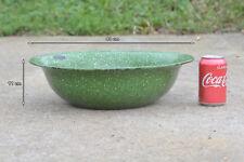 old enamelled enamel washing bowl shabby bath chic 40 cm FREE POSTAGE