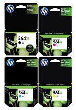 GENUINE NEW HP 564XL Ink Cartridge 4-Pack