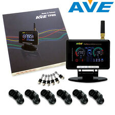 AVE Universal Truck / Car LCD TPMS LCD Display 6 Internal Sensor & 6M Antenna