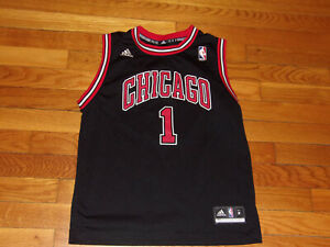 ADIDAS CHICAGO BULLS DERRICK ROSE BASKETBALL JERSEY BOYS MEDIUM 10-12 EXCELLENT