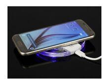 """Chargeur à Induction sans fil et illimité """"Qi"""" Q2 LED 1A avec Câble USB (Blanc)"""