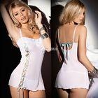 Women G-string Nightwear Sleepwear Babydoll Dress Sexy Lace Lingerie DZ88