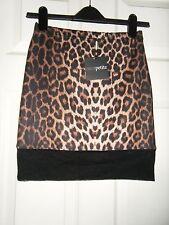 Ladies BNWT ASOS Petite Leopard Print Mini Skirt Size 10