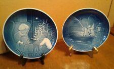Bing & Grondahl Blue Christmas Plates, Jule After 1976 & 1978