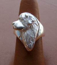 Sterling Silver Newfoundland Standing Study Study Ring