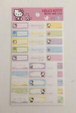 Vintage Sanrio Hello Kitty Label Stickers 5 Sheets 150 Stickers Mini Cute! 2006
