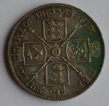 More details for 1888 queen victoria double florin silver coin high grade toned