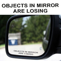 1 Pair OBJECTS IN MIRROR ARE LOSING Vinyl Decal Car Rearview Sticker JDM Racing