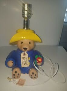 Vintage Paddington Bear Lamp by NOJO EDEN 1991 14 1/2 Inches Works No Lamp Shade
