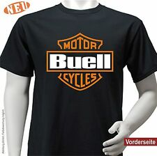Erik BUELL AMERICAN MOTORCYCLES | BAR SHIELD | T-SHIRT | Nuovo | S M L XL XXL 3xl