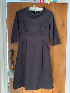 Seasalt Porthpean Grey needlecord Dress pockets UK 10