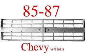 85 86 87 88 CHEVY TRUCK Grill, Fits Both 2 HL & 4 HL Trucks Blazers Jimmys