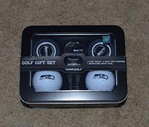 Seattle Seahawks 5-Piece Golf Gift Set NEW NFL Team