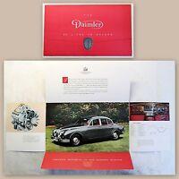 Werbebroschüre Pospekt Daimler 2 1/2 Liter V8 Limousine Auto Oldtimer um 1965 xz