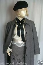 Vintage Herringbone tweed laine preppy manteau par max Pierre uk-8-10 us-2-4 eu-34-36
