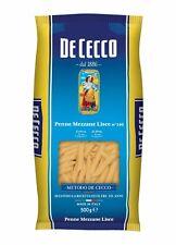 5x Pasta De Cecco 100% Italienisch Penne Mezzane Lisce n. 140 Nudeln 500g