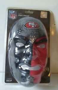 SAN FRANCISCO 49ers NFL Franklin Fan Face Mask, One Size Fits All