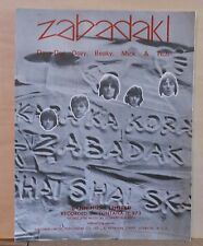 Zabadak! - 1967 sheet music - group Dave Dee, Dozy, Beaky, Mick & Tich photos