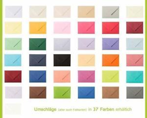 50 C6  Briefumschläge in vielen Farben erhältlich - hervorragende Qualität