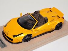 1/18 Ferrari 458 Spider Liberty Walk LB Performance Metallic Yellow N BBR / MR