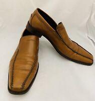 Donald J. Pliner Mens Leather Reede Loafer Shoe Size 13 M Tan Slip Ons