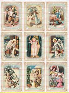 Bügelbild Weihnachten Kinder Winter Engel Nostalgie Chic Shabby Vintage 1769 A4