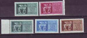 REPUBBLICA 1958 1976 ESPRESSI CAVALLI ALATI ** 2 SERIE INTEGRE PERFETTE MNH VF