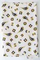 1940s Cotton Twill Navy Insignia & Sailboats Perfect Beach Pajamas 2.08 yds
