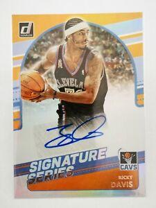 Panini Donruss 2020-21 N23 card NBA Signature Series CAVS #SG-RDV Ricky Davis