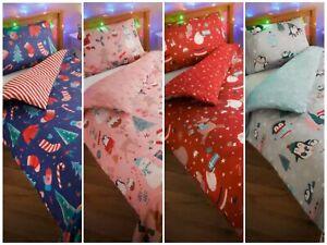 Kids Christmas Duvet Set 1 x Single Duvet Cover, 1 x Pillowcase.