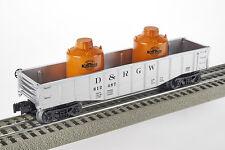Lot 4114 Lionel D&RGW offener Güterwagen mit zwei Kanistern (gondola), Spur 0