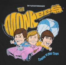 S/M * thin vtg 80s 1986 THE MONKEES tour t shirt * small medium GARY PUCKETT