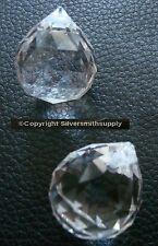 2 Lead cut crystal 23mm teardrop sun catcher pendants chandelier fobs misc008