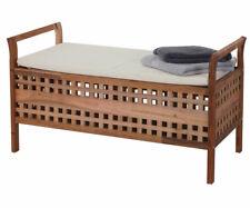 Panca contenitore HWC-B61 design decorativo legno di noce