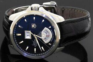 TAG Heuer Grand Carrera GMT Calibre 8 WAV5111 SS automatic men's watch w/ date