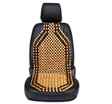 Zone Tech Automobile Car Wooded Beaded Comfortable Seat Cover Cushion Natural