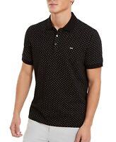 Michael Kors Mens Shirt Black Size Small S Polka Dot Slim Fit Polo $98 075